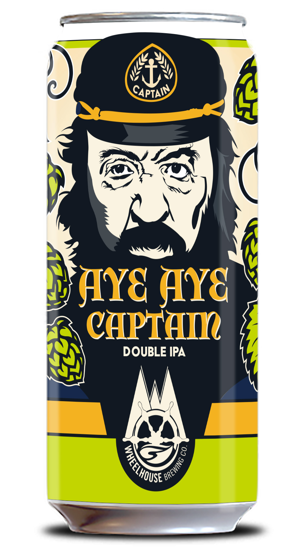 Aye Aye Captain beer label design