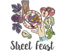 Event branding and illustration with LifeCycles; Street Feast.
